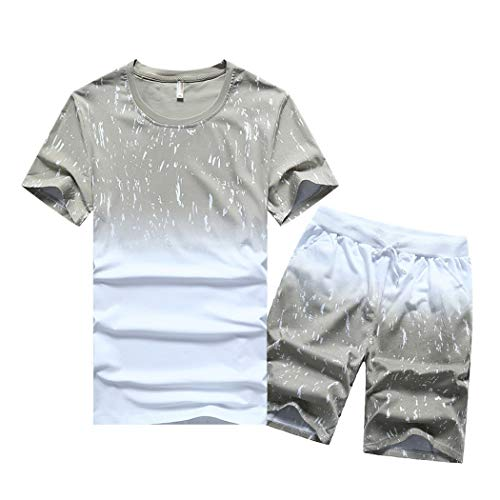 Men Outfits - Men's Casual 2 Piece Outfits Camouflage