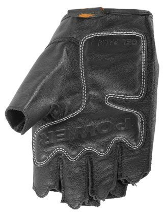 Power Trip Womens Graphite Leather Motorcycle Gloves Black Small S