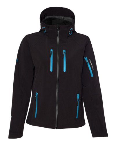 Stormtech Ladies H2Xtreme Expedition Soft Shell Jacket with Removable Hood XB-2W XL Black/Methyl (H2xtreme Shell Jacket)