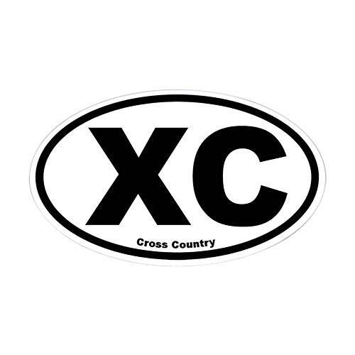Cross Country Stickers Bumper (CafePress Cross Country Oval Sticker Oval Bumper Sticker, Euro Oval Car Decal)