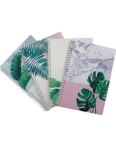 What's Fun B5 Spiral Theme designed Hardcover College Ruled Notebook/Composition/Journals/Dairy/Office Note Books Pack of 4(Green Planet)