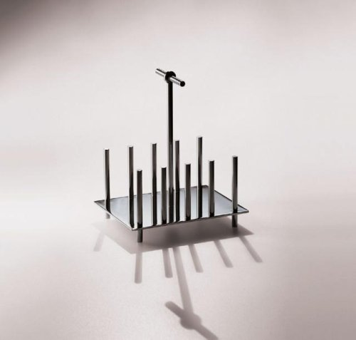 Alessi Toast Rack, 18/10 Stainless Steel, by Christopher Dresser by Alessi