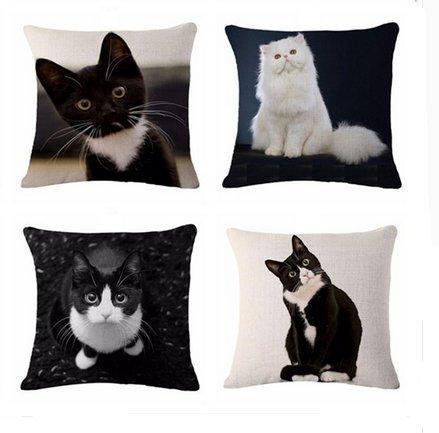 4 unds. fundas de cojin gatos mix absolutamente ideales para ...