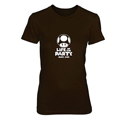 Party Pilz - Damen T-Shirt, Größe: L, Farbe: braun