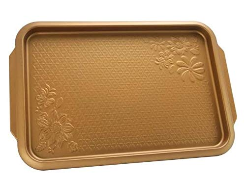 Carbon Steel Copper Cookie Sheet Country Kitchen 15 in. Embossed Carbon Steel Copper Cookie Sheet
