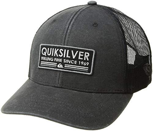 (Quiksilver Men's RIG Tender Trucker HAT, Black, 1SZ)