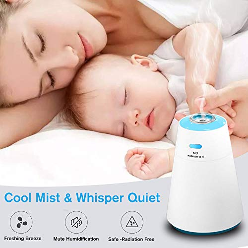 WitMoving Cool Air Humidifier USB Rechargable Ultrasonic Mist Whisper-Quite For Babies and Bedroom by WitMoving (Image #4)