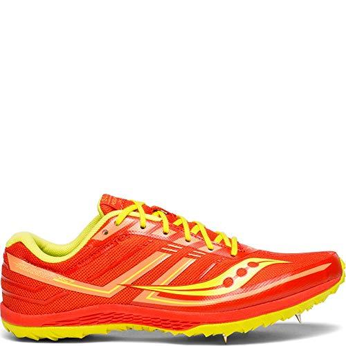 (Saucony Women's Kilkenny XC7 Track Shoe, Orange/Green, 8.5 M US)