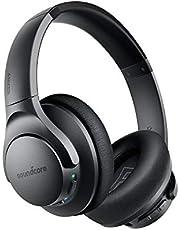 Soundcore Life Q20 Bluetooth hoofdtelefoon, actieve ruisonderdrukking, 30 uur afspeeltijd, Hi-Res audio, intensieve bas, draadloze over-ear hoofdtelefoon voor reizen, werk en meer