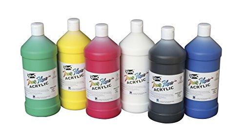 sax-409812-true-flow-medium-bodied-acrylic-paint-quart-set-of-6-assorted-colors