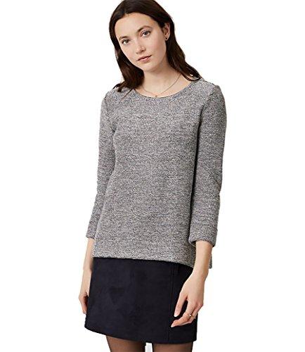 Ann Taylor LOFT - Women's - Shimmery Reverse French Terry Boucle Sweatshirt Top (X-Large)
