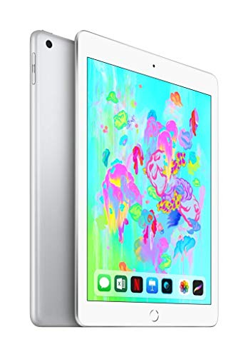 Apple iPad 9.7 inches (Early 2018) 32GB, WiFi + 4G LTE - Silver (Renewed)
