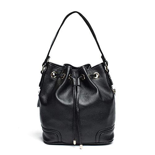Drawstring Leather Black Leather Mini Roele Small Bag Yasla Tassel Bucket Bucket Crossbody Bag, Handbag Drawstring SHwcPv
