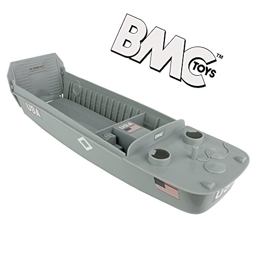 BMC WW2 Higgins Boat LCVP Landing Craft - 1:32 Vehicle for Plastic Army Men (Eisenhower Gi Joe)