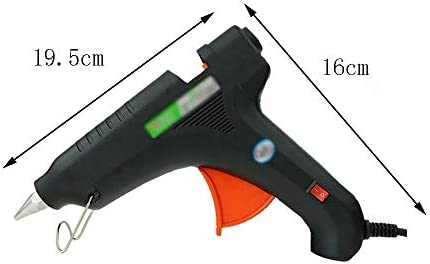 Minmin 40の接着剤が付いているホットメルトの接着剤銃は60/80 / 100W複数の電源 - DIYの工芸品の装飾、家の速い修理、木工、休日の装飾(黒)に適しています ミニ (Color : 100W)