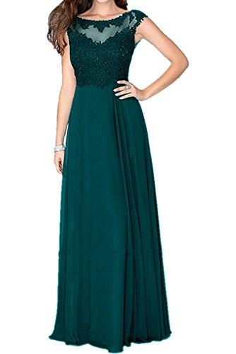 Charmant Jaeger linie Abendkleider Damen Dunkel Gruen Blau Abschlussballkleider Lang A Partykleider Elegant Spitze SqS6r1wn