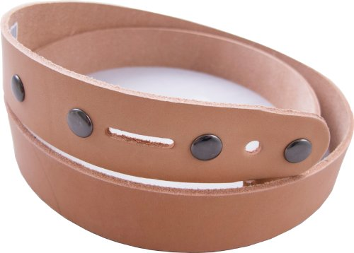 Springfield Leather Company Economy Belt Blank with Snaps, 1-1/2