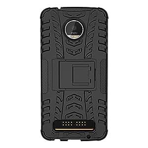 Moto Z Play case, KuGi [Anti-Slip Series][ Dual Layer] Protective, ultra-thin PC Back + TPU Cover Case for Motorola Moto Z Play smartphone(Black)