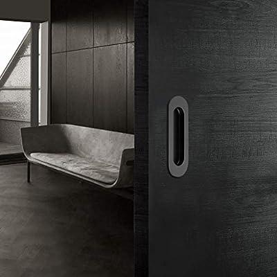 IGNPION - Tiradores para puerta corredera de acero inoxidable, 2 unidades, rectangulares, empotrables, para puerta, armario o cajón: Amazon.es: Bricolaje y herramientas