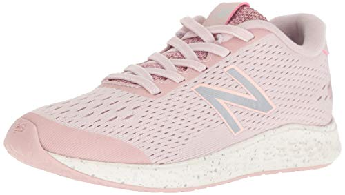 (New Balance Girls' Arishi Next V1 Hook and Loop Running Shoe Conch Shell/Silver 13 M US Little)
