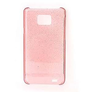 Solid Color Shimmering Powder Transparent Crystal Hard Case for Samsung Galaxy S2 i9100 , Black