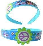 Nickelodeon Dora The Explorer Blue Plastic Headband -Dora The Explorer Headgear - Dora The Explorer Hair Accessories