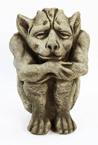 Fleur de Lis Garden Ornaments LLC Igor Cement Gargoyle Concrete Gothic European Statue French Cast Stone Religious Sculpture Figurines ()