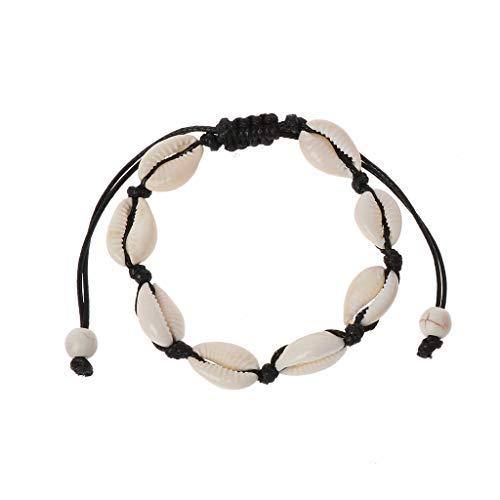 Huilier Natural Cowrie Beads Shell Anklet Bracelet Handmade Hawaiian Beach Foot Jewelry