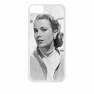 Grace Kelly- Hard White Plastic Snap - On Case-Apple Iphone 5 - 5s - Great Quality!