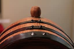 American Oak Barrel with Steel Hoops- 2 Liter or .53 Gallons