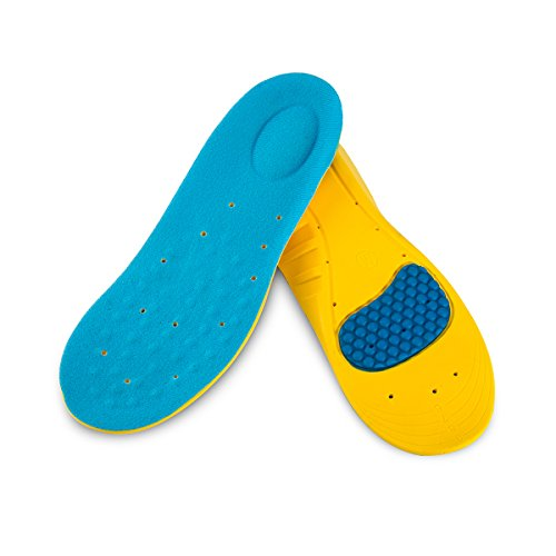 Kids Athletic Memory Foam Insoles for Arch Support and Comfort for Active Children (S Big Kids 2-5.5) by WELSONPRO