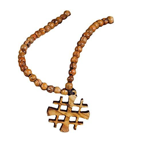 Abbey Gift Jesus Wooden Bead Strand, 4 x 3.38 – 56930M