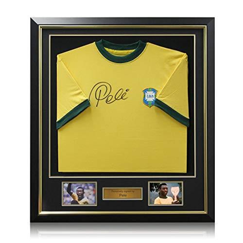 Deluxe Framed Pele Signed Brazil 1970 Soccer ()