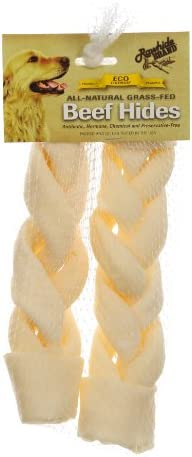 Rawhide Brand 10 By 2-Inch Natural Braided Roll, 2 Per Pack, Mesh Hdr