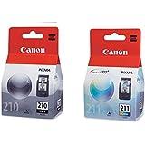 Kit 2 Cartuchos Canon Pg210 Pg 210 Cl211 Cl 211 Para MP240 MP250 MP260 MP490