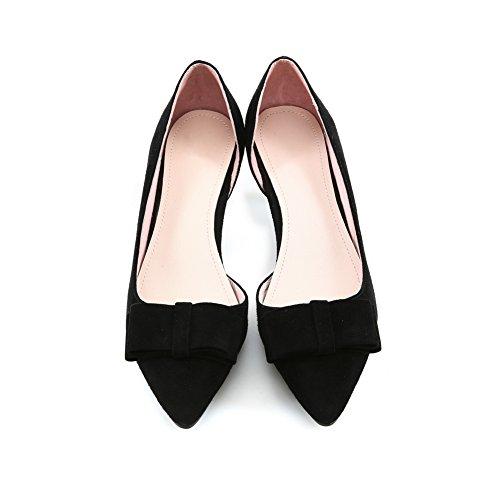 Donne Mulattiere Gattino Gomma Nere In Pompe Di scarpe Balamasa tacchi Conforto PqUwPd0g