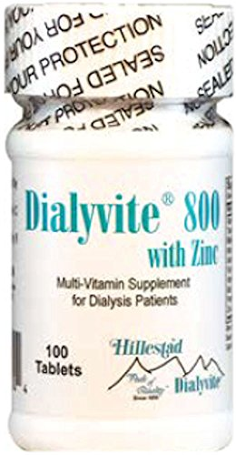 Dialyvite 800 With Zinc 50 mg - 100 Tablets (Renal Supplement)