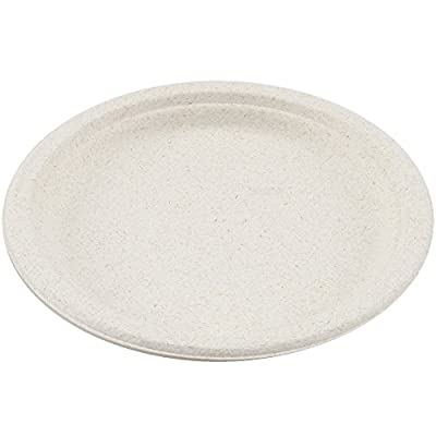 Perfect Stix Sugarcane Plate 9-50ct 9 Inch Eco Friendly Sugarcane Disposable Plates ( Pack of 50)