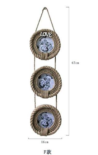 QWG Portaretrato creativo de caja de madera fase idílica Europea 4 pulgadas 6 pulgadas 7 pulgadas de la cuerda , 3 round hanging: Amazon.es: Hogar
