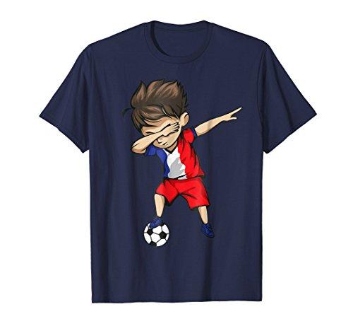 Dabbing Soccer Boy France Jersey Shirt - French Football