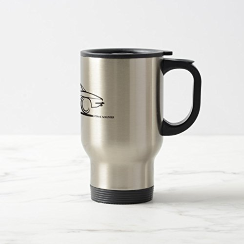 Zazzle 1963 Corvette Stingray Hardtop Coffee Mug, Stainless Steel Travel/Commuter Mug 15 oz (93 Hardtop)