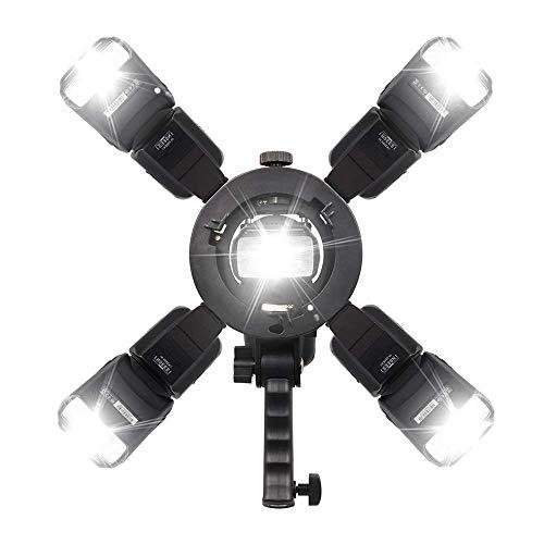 S-Type Bracket Bowens Mount Holder for Speedlite Softbox Photography Umbrella(Not Contain Flash Speedlite) ()
