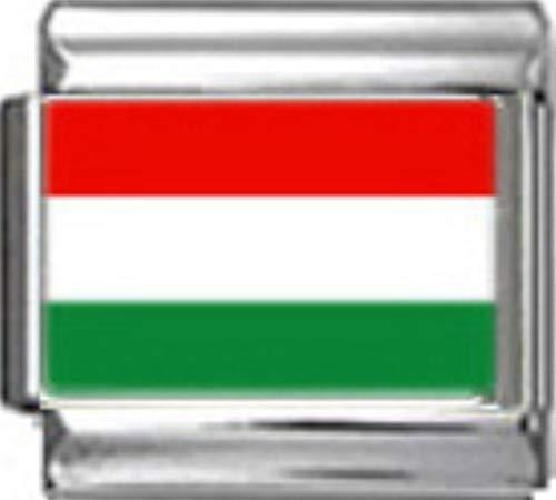 Stylysh Charms Hungary Hungarian Flag Photo Italian 9mm Link PC078 ()
