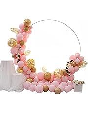 Balloon Column Arch Set, Round Balloon Arch Stand Frame Display Kit for Wedding Birthday Party Background Decor Supplies