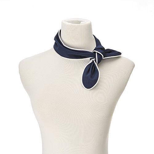 Tie Back Scarf (Girls Pocket Fun Style Chiffon Scarf Small Slim Necktie Hairband Bag)