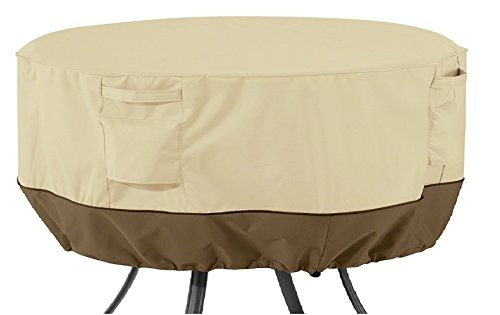 Classic Accessories Veranda Round Patio Table Cover, Large (Cover Dining Inch Chairs 6 Table Outdoor Set Furniture 60 &)