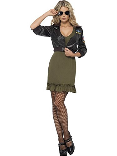 [Top Gun Dress Fancy Dress Costume] (Top Gun Womens Bomber Jacket Costume)