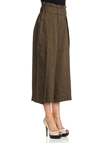 Ottod'ame Pantaloni Donna HDYDP78891500 Lino Marrone