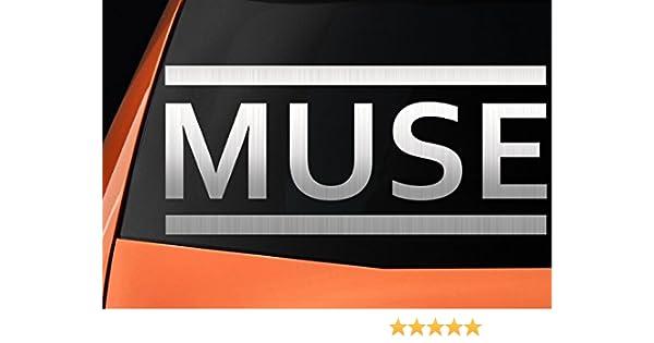 Muse Logo – Vinilo, ideal para coches, ventanas, paredes, portátiles, guitarras – Adhesivo: Amazon.es: Coche y moto