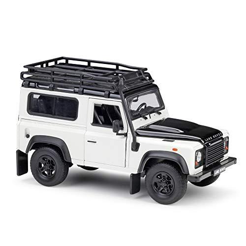 Action Figure Alloy Car Model Decoration,1:24 Land Rover Land Rover Defender Simulation Alloy Model Ornaments ( Color : White )